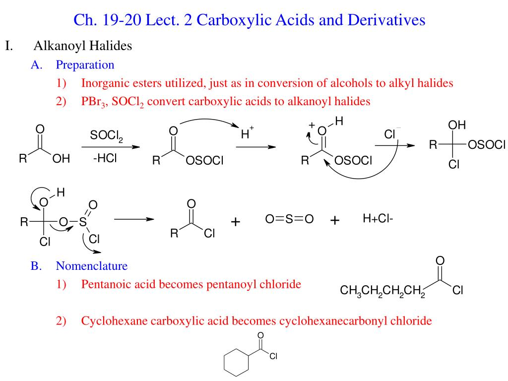 ch 19 20 lect 2 carboxylic acids and derivatives l.