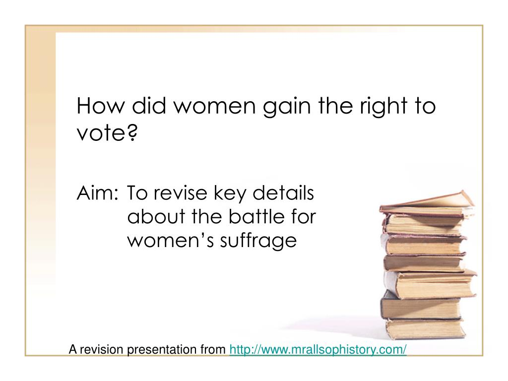 how did women gain the right to vote l.