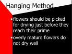 hanging method