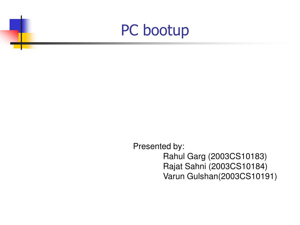 pc bootup l.