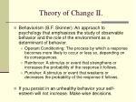 theory of change ii