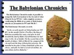 the babylonian chronicles