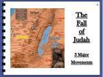 the fall of judah 3 major movements
