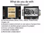 what do you do with voicethread