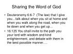 sharing the word of god