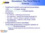simulation the third pillar of science