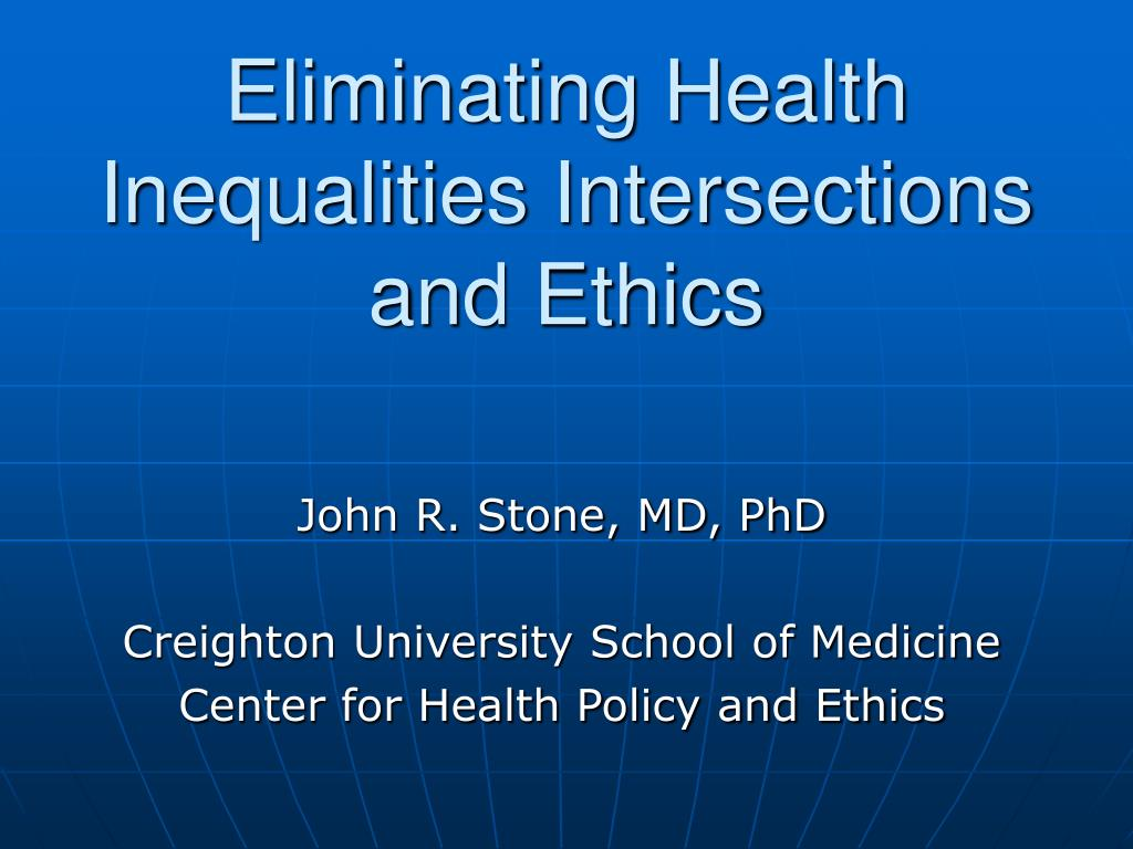 eliminating health inequalities intersections and ethics l.