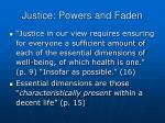 justice powers and faden