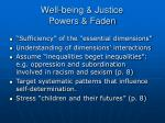 well being justice powers faden