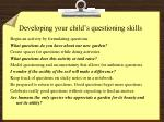 developing your child s questioning skills
