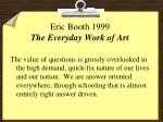 eric booth 1999 the everyday work of art