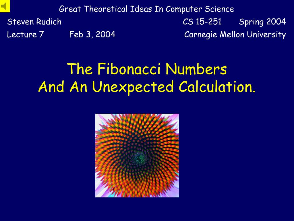 the fibonacci numbers and an unexpected calculation l.