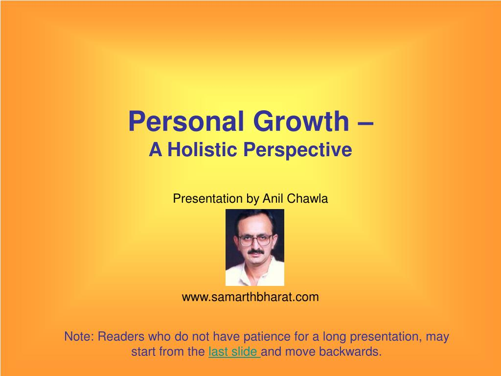 personal growth a holistic perspective l.