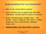 understanding first law continued