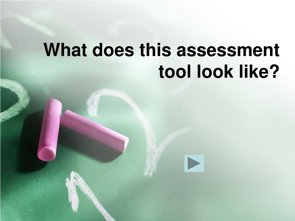 What does this assessment tool look like?