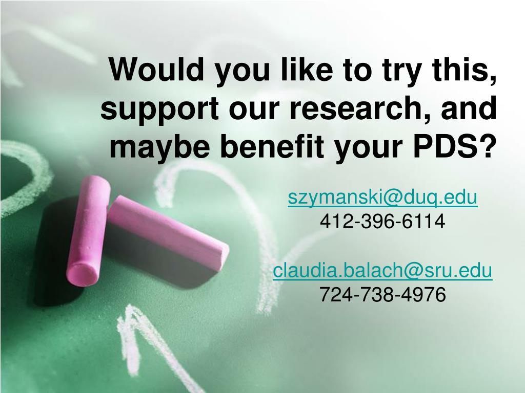 Would you like to try this, support our research, and maybe benefit your PDS?