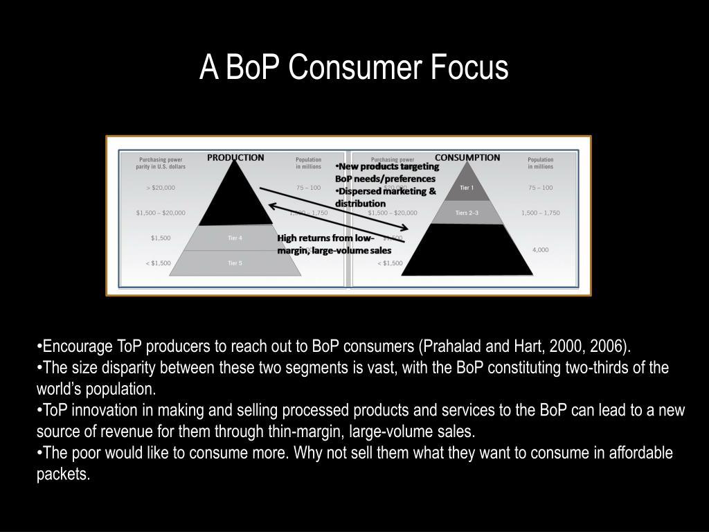 A BoP Consumer Focus