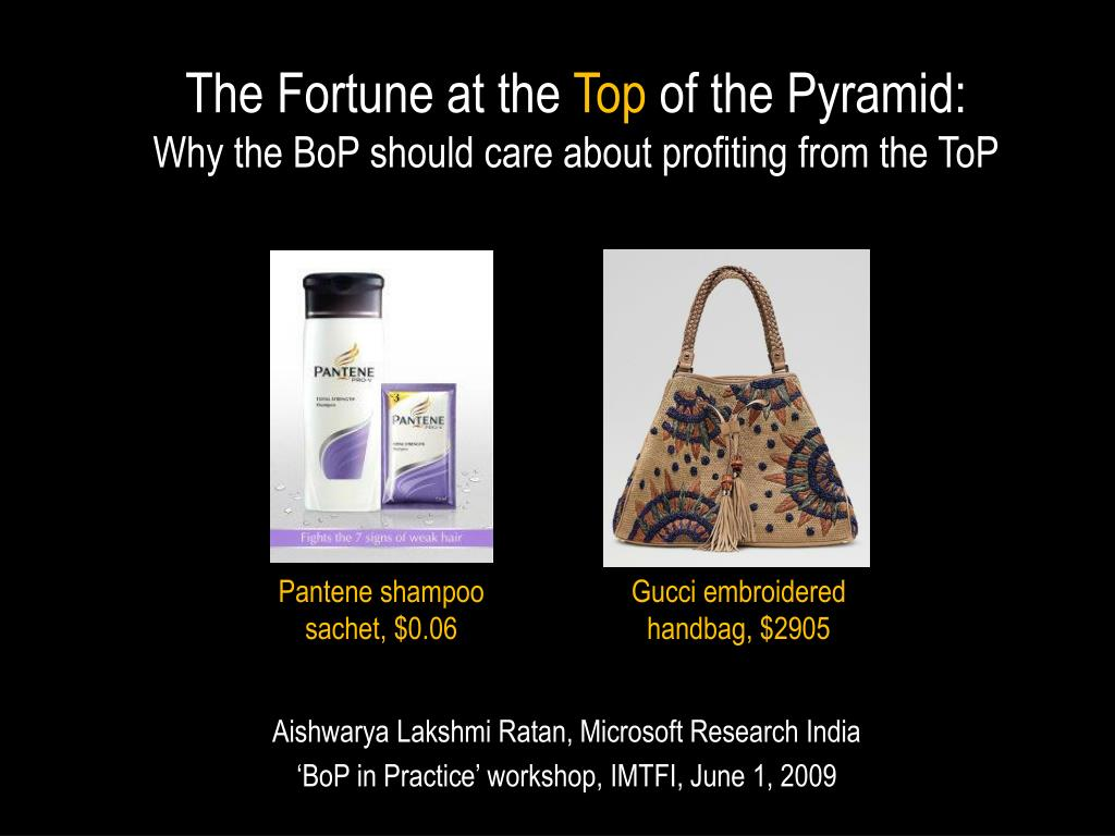 the fortune at the top of the pyramid why the bop should care about profiting from the top l.