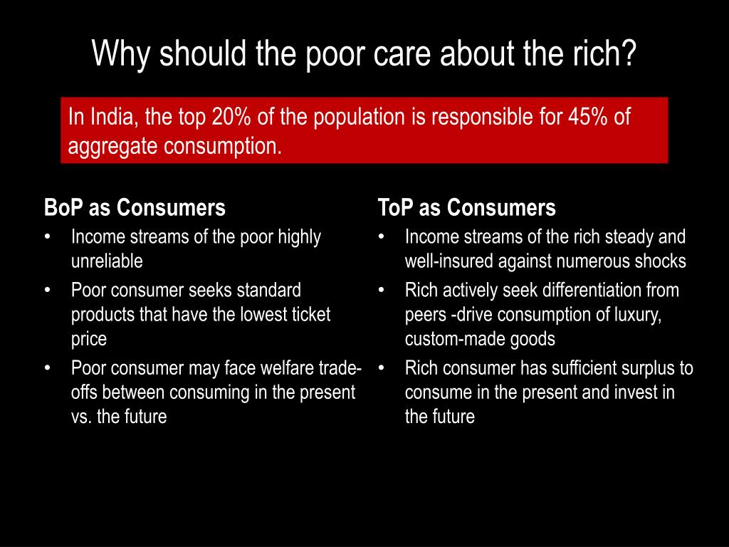 Why should the poor care about the rich?