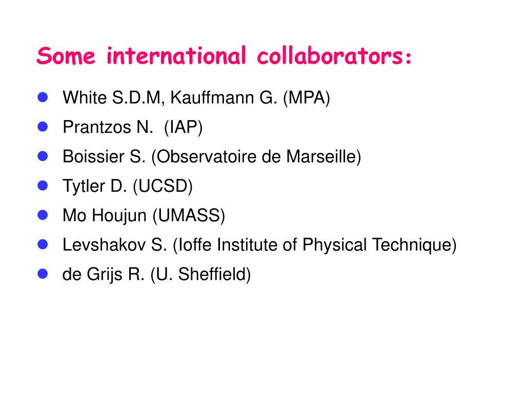 Some international collaborators