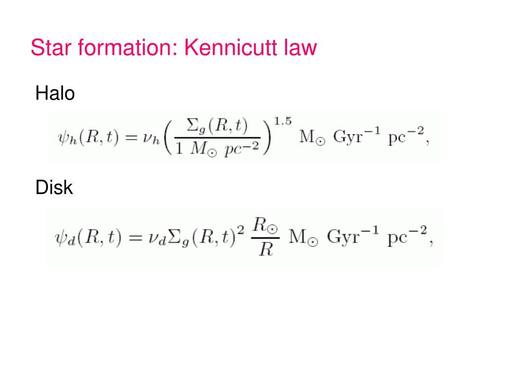 Star formation: Kennicutt law