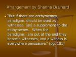 arrangement by shanna brainard