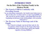 introduction on the role of the christian family in the modern world3