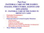 part four pastoral care of the family stages structures agents and situations51