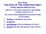 part three the role of the christian family14