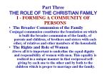 part three the role of the christian family16
