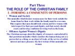 part three the role of the christian family17
