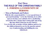 part three the role of the christian family18
