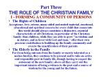 part three the role of the christian family19