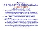 part three the role of the christian family20