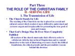 part three the role of the christian family21