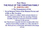 part three the role of the christian family22
