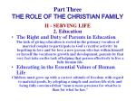 part three the role of the christian family26