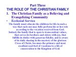 part three the role of the christian family40