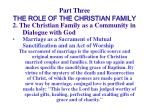 part three the role of the christian family43