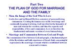 part two the plan of god for marriage and the family