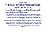 part two the plan of god for marriage and the family10