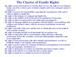 the charter of family rights