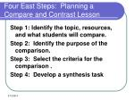 four east steps planning a compare and contrast lesson