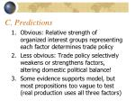 c predictions