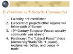 e problems with security communities