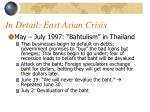 in detail east asian crisis
