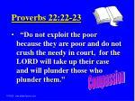 proverbs 22 22 23