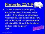 proverbs 22 7 9