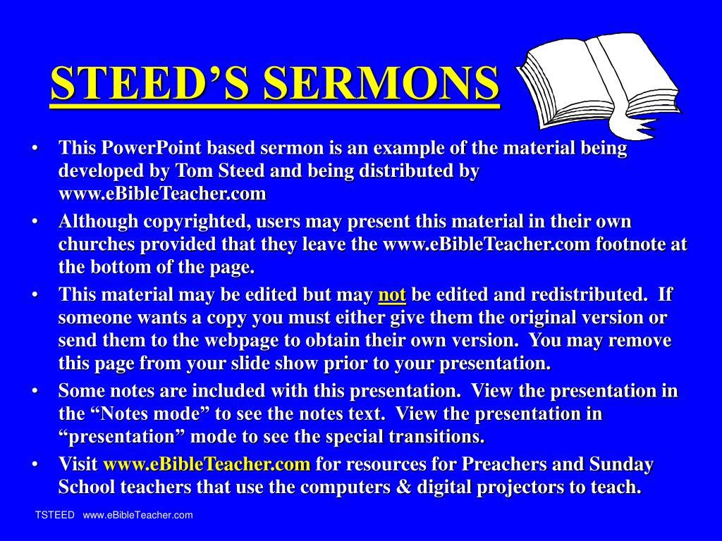 steed s sermons l.