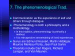 7 the phenomenological trad